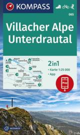 Wandelkaart Villacher Alpe - Unterdrautal | Kompass 065 | 1:50.000 | ISBN 9783990446485