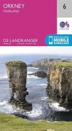 Wandelkaart Orkney Mainland | Ordnance Survey 6 | ISBN 9780319261040