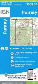Topo-, Wandelkaart Fumay | IGN 3008SB | 1:25.000 | ISBN 9782758539650