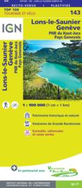 Wegenkaart - fietskaart Lons-Le-Saunier - Geneve | IGN 143 | ISBN 9782758547624