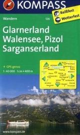Wandelkaart Glarnerland - Walensee | Kompass 126 | 1:50.000 | ISBN 9783850269131