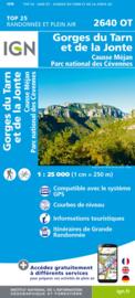 Wandelkaart Gorges du Tarn, Florac, Ste.-Enimie, la Malene, Aven Armand, PN des Cevennes | Cevennen |  IGN 2640OT - IGN 2640 OT | ISBN 9782758545415