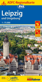Fietskaart Leipzig und Umgebung | BVA - ADFC | 1:75.000 | ISBN 9783870738334