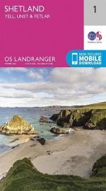 Wandelkaart  Shetland, Yell, Unst & Fetlar | Ordnance Survey 1 | ISBN 9780319260999