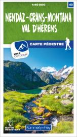 Wandelkaart Nendaz - Crans-Montana Val d'Hérens | Kümmerly & Frey 40 | 1:40.000 | ISBN 9783259023402