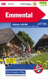 Fietskaart Emmental | Kümmerly+Frey nr. 10 | 1:60.000 | ISBN 9783259024102