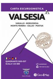 Wandelkaart  Valsesia Varallo | Geo4Map kaart 2 | 1:25.000 | ISBN 9788894021066