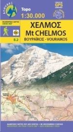 Wandelkaart Mt. Chelmos - Peloponnesos | Anavasi 8.2 | 1:30.000 | ISBN 9789608195332