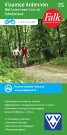 Fietskaart  Vlaamse Ardennen met Leiestreek-oost en Scheldeland 35 | Falk | ISBN 9789028727915