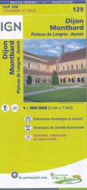 Wegenkaart - fietskaart Dijon - Montbard | IGN 129 | ISBN 9782758540816