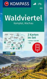 Wandelkaart Waldviertel-Kamptal-Wachau | Kompass 203 | 1:50.000 | ISBN 9783990448793