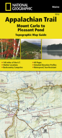 Wandelkaart Appalachian Trail –  Mount Carlo to Pleasant Pond  | 1:63360 | National Geographic 1512 | ISBN 9781597756495