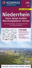 Fietskaart Niederrhein | Kompass 3323 | 1:70.000 | ISBN 9783990446713
