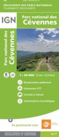 Wandelkaart - Fietskaart Parc National de Cevennes | IGN | 1:50.000 | ISBN 9782758549017