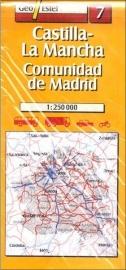 Wegenkaart-Fietskaart Castilla-La Mancha-Madrid No. 7 | Geo Estel | 1:250.000 | ISBN 9788495788153