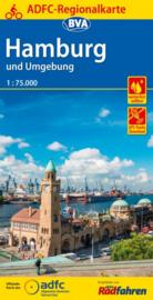 Fietskaart Hamburg en Omgeving | BVA - ADFC | ISBN 9783870736835