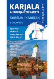 Wegenkaart Karelië-Karjala-Karelia / Oost Finland en Rusland | 1:800.000 | ISBN 9789522665751