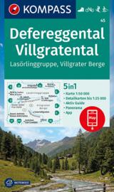 Wandelkaart Defereggental - Villgratental | Kompass 45 | 1:50.000 | ISBN 9783991210870