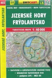 Wandelkaart Tsjechië -  Jizerské hory, Frýdlantsko | Shocart 402 | ISBN 9788072246809