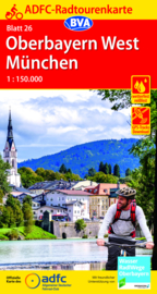 Fietskaart Oberbayern / München | ADFC nr. 26 | ISBN 9783969900055