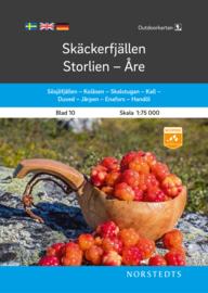 Wandelkaart Skäckerfjällen-Storlien-Åre | Norsteds 10 | 1:75.000 | ISBN 9789113105079