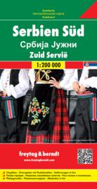 Wegenkaart - Fietskaart Servie Zuid - Serbia South | Freytag & Berndt | 1:200.000 | ISBN 9783707912784