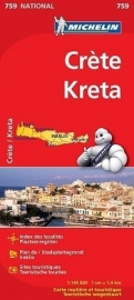 Wegenkaart Kreta | Michelin  | 1:140.000 | ISBN 9782067173194