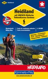 Wandelkaart Heidiland mit Unesco Welterbe 33 | Kümmerly + Frey 1:60.000 | ISBN 9783259008294