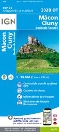 Wandelkaart Mâcon - Cluny - Roche de Solutré | Rhônevallei - Bourgondië | IGN 2928 ET - IGN 2928ET