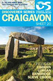 Wandelkaart Craigavon | Discovery Northern Ireland 20 - Ordnance survey | 1:50.000 | ISBN 9781905306916