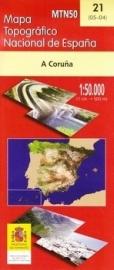 Wandelkaart - Topografische kaart A Coruna | 1:50.000 | CNIG 21 | ISBN 8423434002105