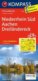 Fietskaart Niederrhein Süd - Aachen Dreilandereck | Kompass 3055 | 1:70.000 | ISBN 9783850265744