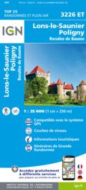 Wandelkaart Lons-le-Saunier, Poligny, Reculee du Baume | Jura | IGN 3226ET - IGN 3226 ET | ISBN 9782758546634