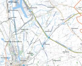 Fietskaart Oost & West Vlaanderen | Alta Via 1 | 1: 75.000 | ISBN 9789082714401
