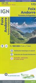 Wegenkaart -fietskaart Foix - Andorre - Pyreneeën | IGN 173 | ISBN 9782758540892