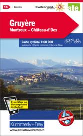 Fietskaart Gruyère  | Kümmerley & Frey nr. 15 | 1: 60.000 | ISBN 9783259024157
