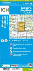 Wandelkaart Moulins - Engilbert | Morvan | IGN 2725SB | ISBN 9782758537298