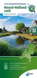 Fietskaart Noord-Holland Zuid | ANWB fietsknooppuntenkaart 15 | 1:100.000 | ISBN 9789018046880