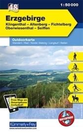 Wandelkaart Erzgebirge | Kümmerly & Frey | 1:50.000 | ISBN 9783259009420