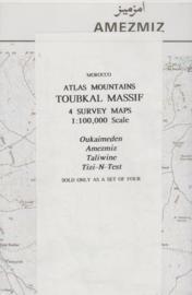Overzichtskaart Atlas Mountains - Toubkal Massif 4- delig | 1:100.000 | CMOO33