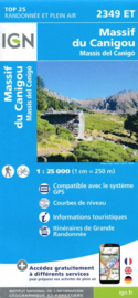 Wandelkaart Massif du Canigou, La Preste, Prats-de-Mollo, Vernet-les-Bains | Pyreneeën | IGN 2349ET - IGN 2349 ET | ISBN 9782758541523