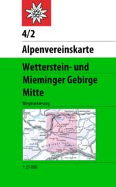 Wandelkaart Wetterstein - Mieminger Mitte 4/2 | OAV | 1:25.000 | ISBN 9783928777209