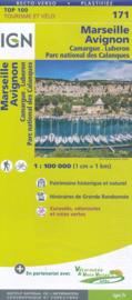 Wegenkaart - fietskaart Marseille - Avignon - Aix en Provence | IGN 171 | ISBN 9782758540878