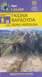 Wandelkaart Giona - Vardousia | Anavasi 2.31 | 1: 25.000 | ISBN 9789609412735