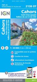 Wandelkaart Cahors / St-Cirq-Lapopie/Vallée du Lot et du Célé | Dordogne |  IGN 2138OT - IGN 2138 OT