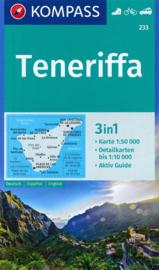 Wandelkaart Teneriffa | Kompass 233 | 1:50.000 | ISBN 9783990445686