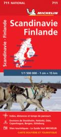Wegenkaart Scandinavië - Finland | Michelin Scandinavië 711 | ISBN 9782067170476