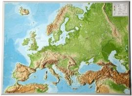 Wandkaart Europa Relief | GeoRelief | 1:8 miljoen | ISBN 4280000664372