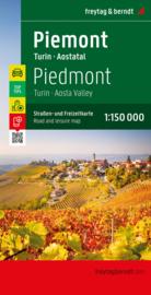 Wegenkaart Piemonte - Turin - Aostatal | Freytag & Berndt | 1:150.000 | ISBN 9783707921038