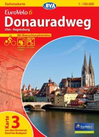 Fietskaart Eurovelo 6 kaart nr. 03. Ulm - Regensburg | 1 : 100 000 | BVA  | ISBN  9783870736156